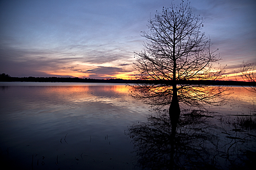 Lake Eufaula sunset, Alabama