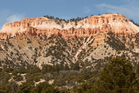 View of Bryce Canyon National Park from Tropic, Utah.